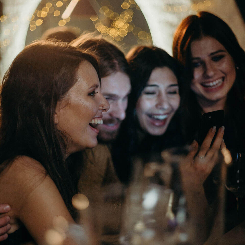 Friends having fun while gambling at Club Ashfiel